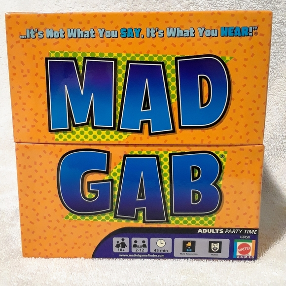 Mad gab adults party time game